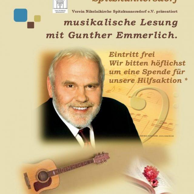 Musikalische Lesung mit Gunter Emmerlich